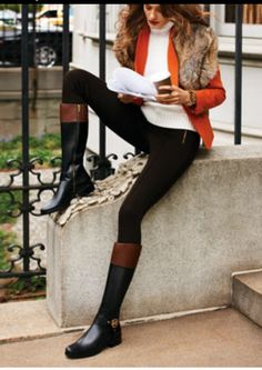 Michael Kors two toned boots