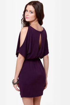 Cute Purple Dress - Cutout Dress - $40.00