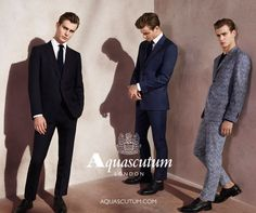 Ben Allen sports suiting for Aquascutum's spring-summer 2016 campaign.