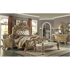 4 Piece Traditional Hd 7012 Bedroom Set Use Coupon Code Freeship17 For Free Shipping Mindys Home Goods