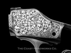 Firearms Engraving by master craftsman at The Coast Handworks Co. Nimschke Style High Wall done in Canada
