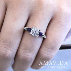 Stunning sapphires to make it pop. Shop this diamond and sapphire engagement ring by clicking the link in our bio. . . . . . #GabrielNY #GabrielAndCo #NewYorkCity #EngagementRing #Bridal #NewYork #NYC #LoveYou #Tulips #BrideToBe #BridetoBride #Diamonds #Love #Ring #TrueLove #MustHave #DreamWedding #WeddingInspiration #Glamour #Heart #love #anniversary #design #jewelry #whitegold #diamond #ringgoals Style #: ER12116