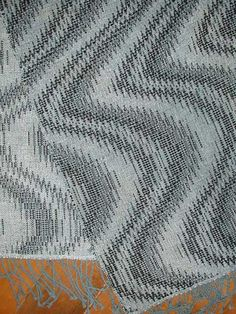 amazing fabric from Bonnie Inouye - this is a 4 shaft weave on overshot blocks - a different way to get undulations