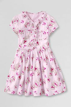 Girls' Ruffle Front Pocket Dress from Lands' End