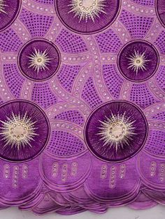Purple cotton lace