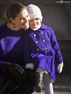 Queens & Princesses - Princess Victoria and Estelle attended a small ceremony at the Royal Palace in Stockholm to celebrate St. Victoria.
