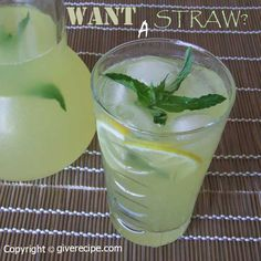 The best lemonade with ginger and fresh mint | giverecipe.com | #lemonade #lemon #citrus #ginger