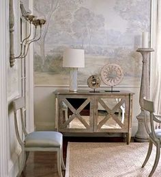 I Love The Mirrored Console Table Furniture Home Diy