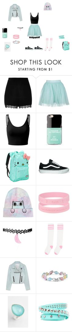 """""""Cassi - 4"""" by alexiszaailove ❤ liked on Polyvore featuring River Island, Boohoo, Doublju, Iphoria, Loungefly, Vans, Cielle London, Ippolita and 2b bebe"""