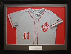 Baseball Jersey custom framed in a shadow box made by Art and Frame Express in Edison NJ.