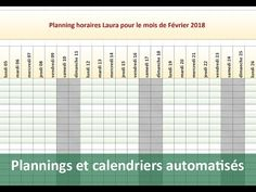 Créer des calendriers et plannings automatiques avec Excel - YouTube Ms Project, Data Processing, Microsoft Excel, Computer Science, Lund, Periodic Table, Internet, How To Plan, Education