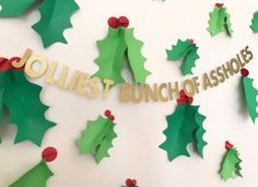 Jolliest bunch of assholes/ christmas vacation / clark griswold/ holiday banner / ugly sweater party - Christmas - Sweaters Tacky Christmas Party, Holiday Banner, Office Christmas, Christmas Party Decorations, Christmas Vacation, Holiday Fun, Christmas Holidays, Christmas Ideas, Xmas Party Ideas