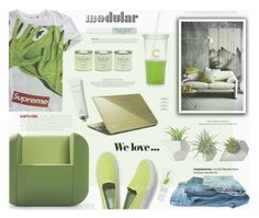 """""""Green Day"""" by katarina-blagojevic ❤ liked on Polyvore featuring interior, interiors, interior design, home, home decor, interior decorating, Dot & Bo, Artifort, Keds and Kate Spade"""
