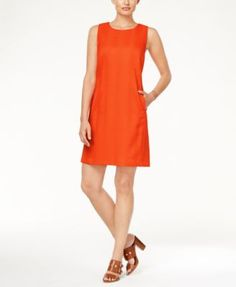Tommy Hilfiger Snakeskin-Print Sleeveless Shift Dress, Only at Macy's…
