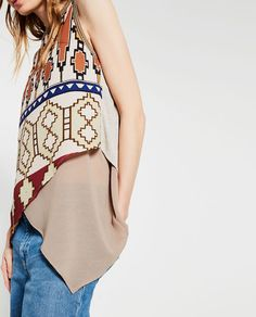 Image 3 of TRIBAL PRINT TOP from Zara