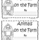 Free! Animals on the Farm emergent reader... printable take home book.  After reading story, students can color pictures