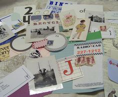 Collage pack of Journaling bits and Ephemera for your Smash Journals and Art Journals PinkTrailerDesigns on Etsy $10.00