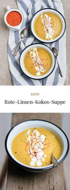 Rote-Linsen-Kokos-Suppe #rotelinsen #kokos #suppe #vorspeise #vegan #veganesuppe