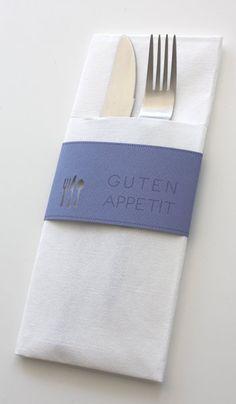 Wunderschöne Bestecktaschen Mit Papierbanderole, Für Eine Gelungene  Tischdekoration. Weitere Wunderschöne Ideen Auch Unter Www