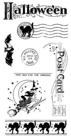Graphic 45 - Happy Haunting Collection - Cling Mount Stamp-3 - Halloween