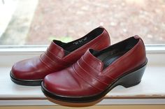 Dansko Size 38 New Without Box Burgundy Leather Shoes 7½ or 8 Heels Comfort | eBay