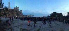 sunrise ceremony on the Rock - 2014