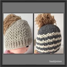 Dutch Messy Bun Beanie free crochet pattern | Jump on board the bun hat trend with this crochet hat pattern