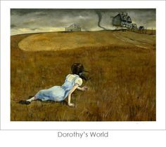 """Dorothy's World"" - VERY clever Wyeth spoof by John Coulter - part of his series of Wizard of Oz pieces - via Gallery Nucleus"