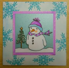 Stamp Addicts Wistful Snowman and Stunning Snowflake Small unmounted rubber stamps.