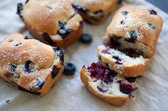 Mini Blueberry Cakes Recipe Yields: 4 mini loafs   Prep Time: 15 Minutes   Bake