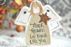 Friend Like You Gift Salt Dough Angel by cookiedoughcreations