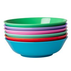 Melamine Noodle Bowl in Assorted Star Colors - Red, Orang, Turquoise, Jade, - Rice A/S