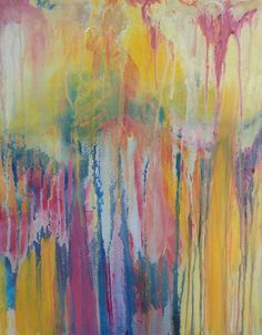 "ORIGINAL Abstract Acrylic Drip Painting - 16"" x20"" on Etsy, $175.00"