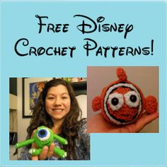 Picturing Disney DIY Amigurumi! Made me think of my crocheting aunts!!!