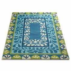 Laurel Border Outdoor Rug- not sure where you could use this, but I thought it was pretty!!