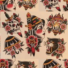 Traditional Tattoo Flash Sheets, Traditional Tattoo Artwork, Traditional Tattoo Filler, Traditional Tattoo Inspiration, Traditional Tattoo Old School, Traditional Rose Tattoos, Traditional Tattoo Design, Traditional Flash, American Traditional Tattoos