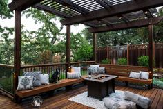 Amazing Pergola Ideas For Shading Your Backyard Patio A pergola is ideal for creating stylish outdoor rooms for your backyard patio, attached or placed next to your home or other structure. Diy Pergola, Deck With Pergola, Cheap Pergola, Covered Pergola, Pergola Shade, Pergola Ideas, Pergola Kits, Patio Ideas, Corner Pergola