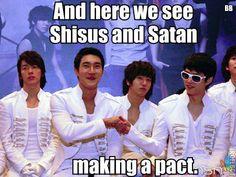 Super Junior. ㅋ ㅋ ㅋ siwon heechul