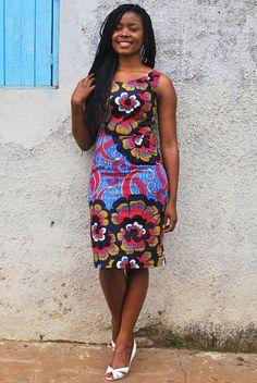 ankara short gown