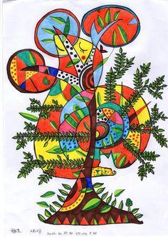 snail bird tree