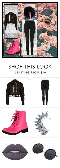 """My sis Made this #5"" by killerbarbiexoxo-123 on Polyvore featuring River Island, Topshop, Qupid, Child Of Wild and Lime Crime"