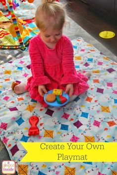 Blanket-play mat- labeled