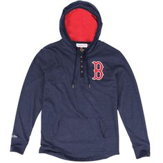 Boston Red Sox Mitchell & Ness Playoff Spot Long Sleeve T-Shirt - Navy Blue - $69.99