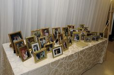 Wedding Guest Book Table - highlighting the amazing tradition of weddings.  Get wedding photos of as many of your guests as you can - aunts, uncles, great aunts uncles, grandparents,parents,friends.