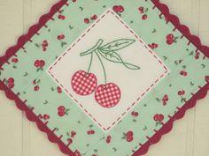 sweet gingham cherries pot holder no. 3