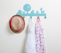 Adorable woodland coat rack for the nursery or a kid's room