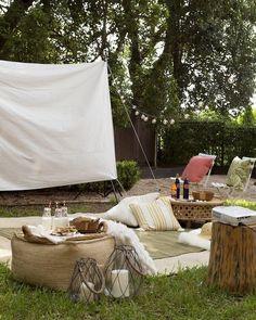 Enjoy an evening under the stars - DIY Backyard Ideas Your Whole Family will Love - Photos