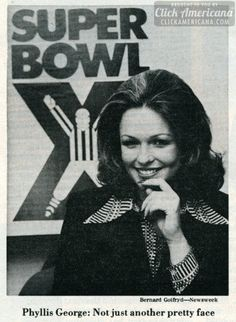 Phyllis George: Rookie of the year (1976)