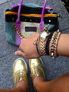 cartera tachas, accesorios, soy tendencia, eduardo zapatero Rebecca Minkoff Mac, Miu Miu Ballet Flats, Bags, Shoes, Fashion, Purses, Trends, Accessories, Women