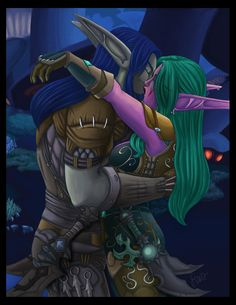 A late birthday gift for my husband. His rogue and mine. Warcraft (c) Blizzard Art (c) Me